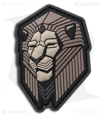 MSM Industrial Lion PVC Hook Back Velcro Patch (Urban)