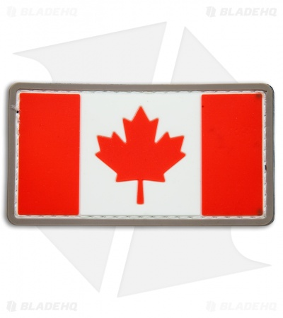 MSM Canadian Flag PVC Patch Hook Velcro Back (Full Color)
