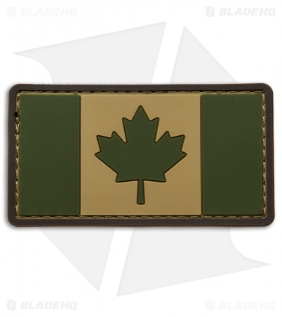 MSM Canadian Flag PVC Patch Hook Velcro Back (Multi-Cam)