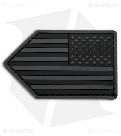 MSM US Flag Vertical PVC Patch Hook Velcro Back (Dark Ops)