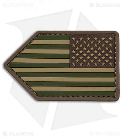 MSM US Flag Vertical PVC Patch Hook Velcro Back (Multi-Cam)
