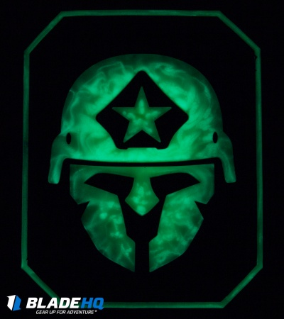 MSM Modern Spartan Large PVC Patch Hook Velcro Back (Glow)