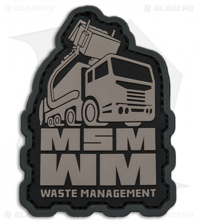 MSM Waste Management PVC Patch Hook Velcro Back (Urban)