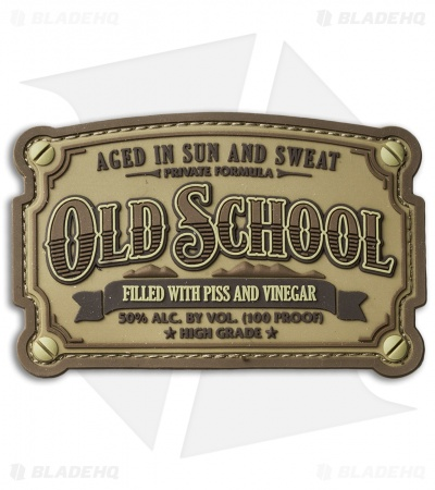 MSM Old School PVC Hook Velcro Back Patch (Desert)