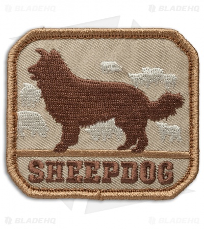 MSM Sheepdog Patch Hook Velcro Back (Desert)