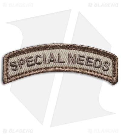 MSM  Special Needs Tab Patch Hook Velcro Back (Desert)