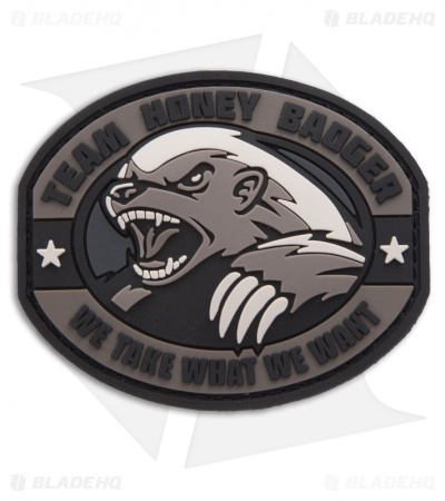 MSM Honey Badger PVC Patch Hook Velcro Back (SWAT)