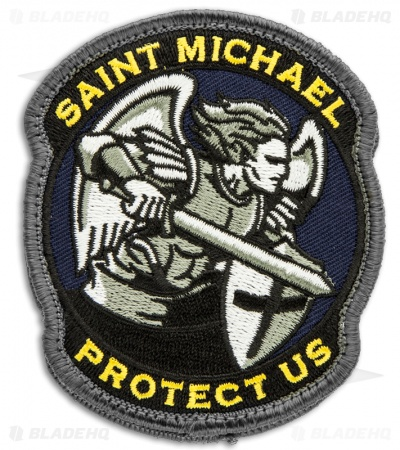 MSM Saint Michael Protect Us Patch Hook Velcro Back (Full-Color)