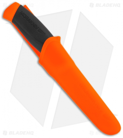 "Morakniv Companion F with Black/Orange Handle (4"" Satin)"