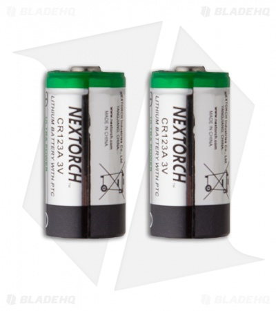 CR123A 3V NexTORCH Lithium Battery for Flashlights Two Pack (2)