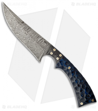 "Olamic Cutlery Nero Knife G10/Carbon Fiber (4.5"" Damascus) 0934"