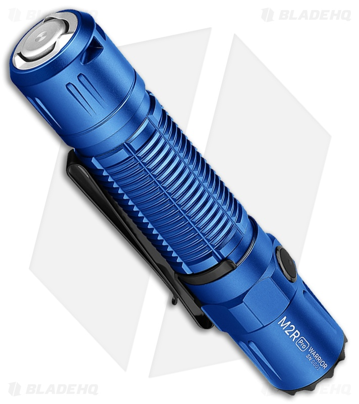 Olight M2R Pro Limited Edition Warrior Rechargeable Blue Flashlight (1800lm)
