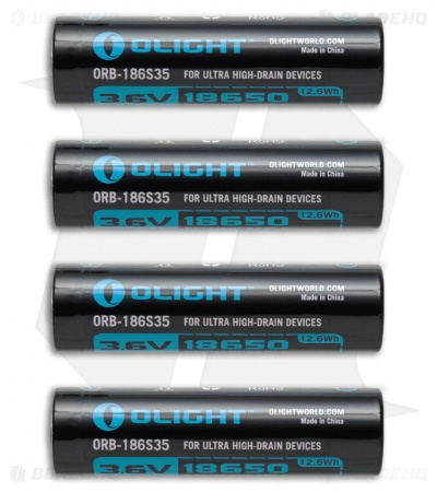 Olight 18650 Rechargable Batteries HDC 3.6V 3500mAh  - Set of 4