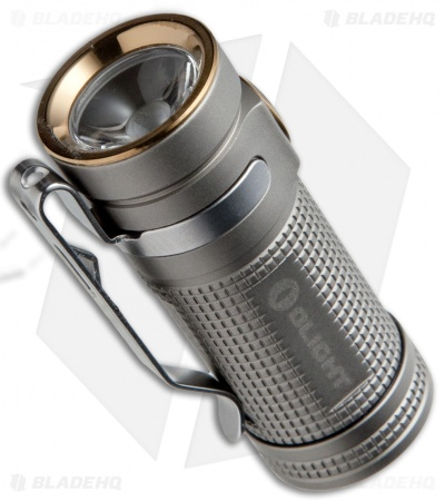 Olight SMINI Baton Bead Blasted Titanium Flashlight Cree XM-L2 LED (550 Lumens)