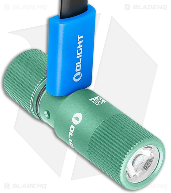 Olight i1R 2 EOS Rechargeable LED Keychain Flashlight Mint Green (150 Lumens)