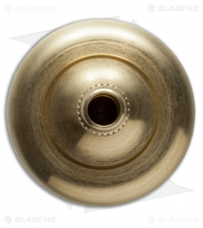 Prometheus Brass Lambda Spinning Top w/ Ruby Bearing