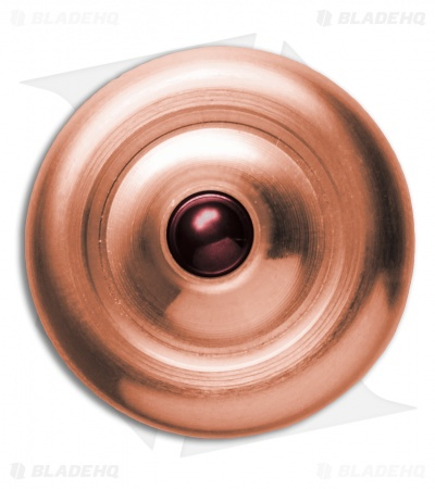Prometheus Solid Copper Lambda Spinning Top w/ Ruby Ball Bearing