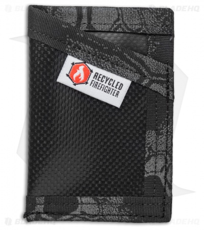 Recycled Firefighter Sergeant Waterproof Tarp Slim Wallet (Black/Typhoon)
