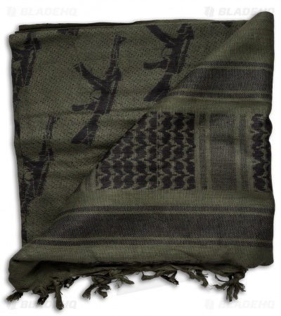 Red Rock Outdoor Gear M16 Tactical Shemagh Head Wrap (OD Green/Black)