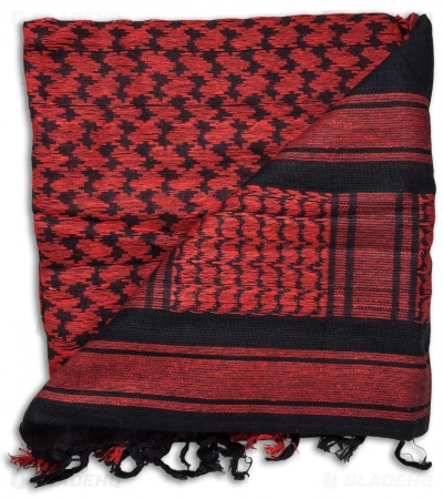Red Rock Outdoor Gear Tactical Shemagh Head Wrap (Red/Black)