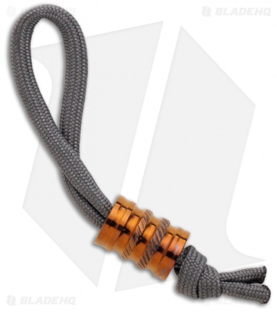 Gray Precision Titanium Gear Monster Bead Lanyard Pull (Polished Bronze)