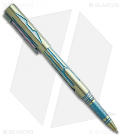 Rike Knife Titanium Tactical Pen - Gold/Blue