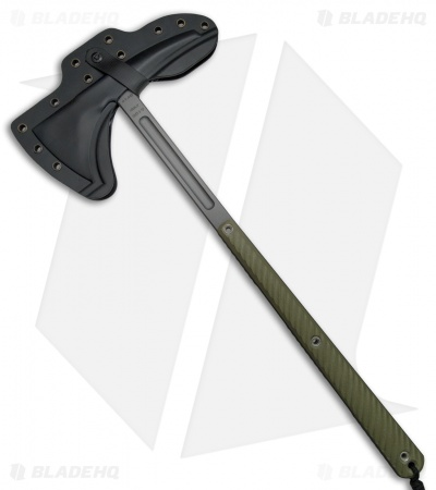 "RMJ Tactical Eagle Talon 18"" Tomahawk Axe OD Green G-10 (Tungsten Cerakote)"