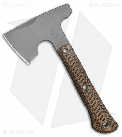 "RMJ Tactical Mini Jenny Hammer Poll 9.5"" Tomahawk Axe Brown G-10 (Cerakote)"