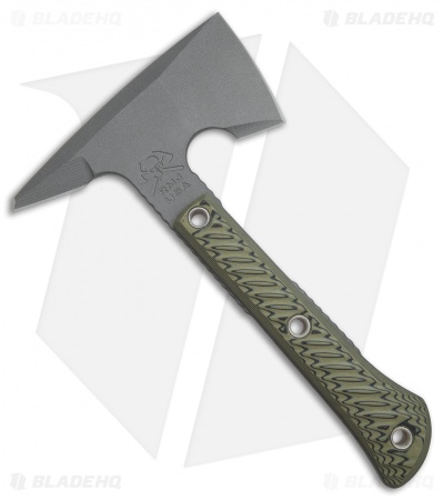 "RMJ Tactical Mini Jenny 9.5"" Tomahawk Axe Dirty Olive G-10 (Tungsten Cerakote)"