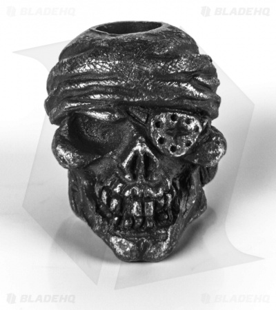 Schmuckatelli One-Eyed Jack Skull Lanyard Bead (Black Oxidized)