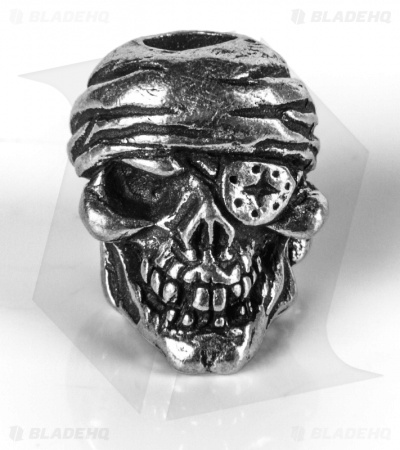 Schmuckatelli One-Eyed Jack Skull Lanyard Bead (Pewter)
