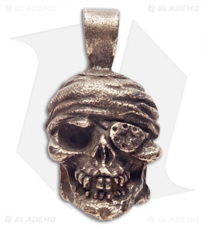 Schmuckatelli One-Eyed Jack Skull Pendant (Oil Rubbed Bronze)