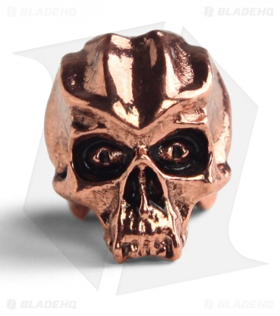Schmuckatelli Cyber Skull Lanyard Bead (Antique Copper Plated)