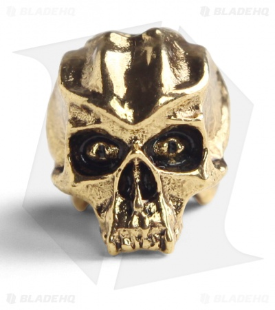 Schmuckatelli Cyber Skull Lanyard Bead (Antique Gold Plated)