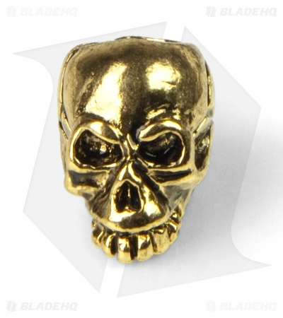 Schmuckatelli Joe Skull Lanyard Bead (18k Antique Gold Plated)