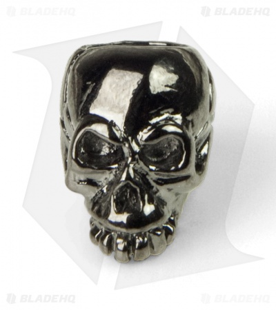 Schmuckatelli Joe Skull Lanyard Bead (Hematite Plated)