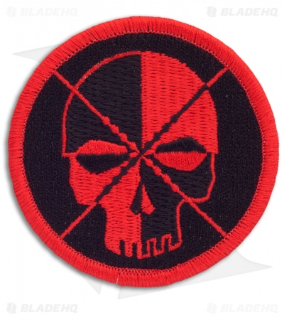 Schmuckatelli Red/Black Skull Velcro Patch