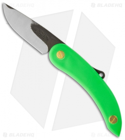 "Svord Peasant Knife Friction Folder Green Polypropylene (3.25"" Satin)"
