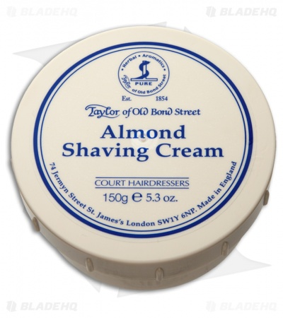 Taylor of Old Bond Street Almond Shaving Cream Bowl (150g) 01002