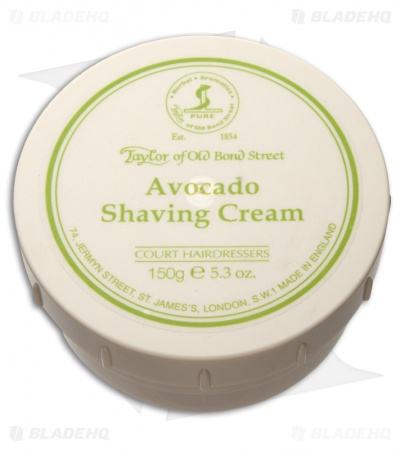 Taylor of Old Bond Street Avocado Shaving Cream Bowl (150g) 01006