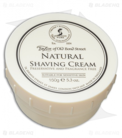 Taylor of Old Bond Street Natural Sensitive Skin Shaving Cream Bowl (5.3 oz.)