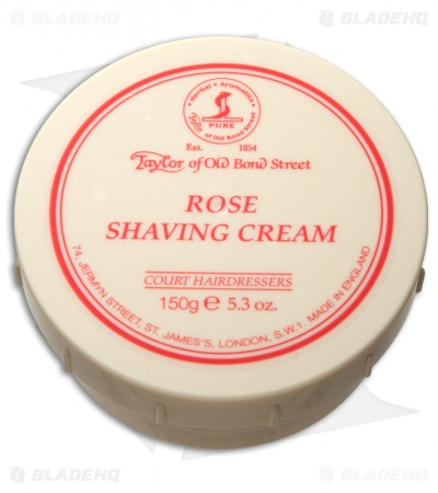 Taylor of Old Bond Street Rose Shaving Cream Bowl (150g) 01004