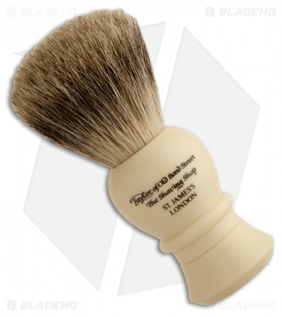 Taylor of Old Bond Street Medium Pure Badger Shaving Brush w/ Bulbous Handle