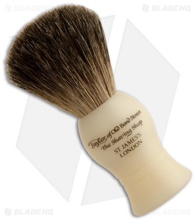Taylor of Old Bond Street Pure Badger Shaving Brush Imitation Ivory