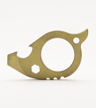 TuffKnives Beaver Titanium Key Chain Bottle Opener (Toxic Green)