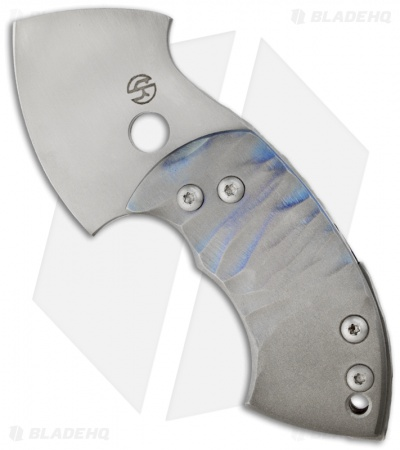 "TuffKnives War Toad Friction Folder Knife Full Ti (2.1"" Plain)"