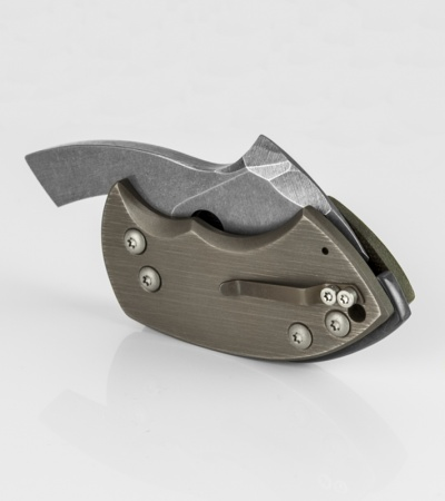 "TuffKnives War Toad Micartoad Friction Folder Knife (2.1"" Acid SW)"