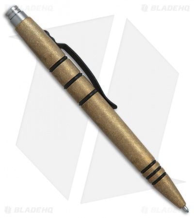 Tuff-Writer Mini Click Series Tumbled Brass Retractable Pen