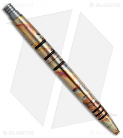 Tuff-Writer Mini Click Series Flamed Copper Retractable Pen