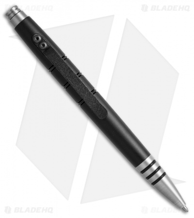 Tuff-Writer Mini Click Series Black Aluminum Retractable Pen